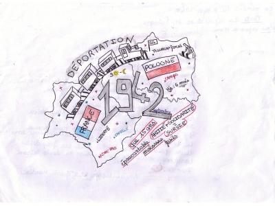 Cérémonie du 8 mai 2017 - Dessins réalisés par les élèves volontaires du collège de Réalmont : Tanguy Carré et Amélie Lapeyre